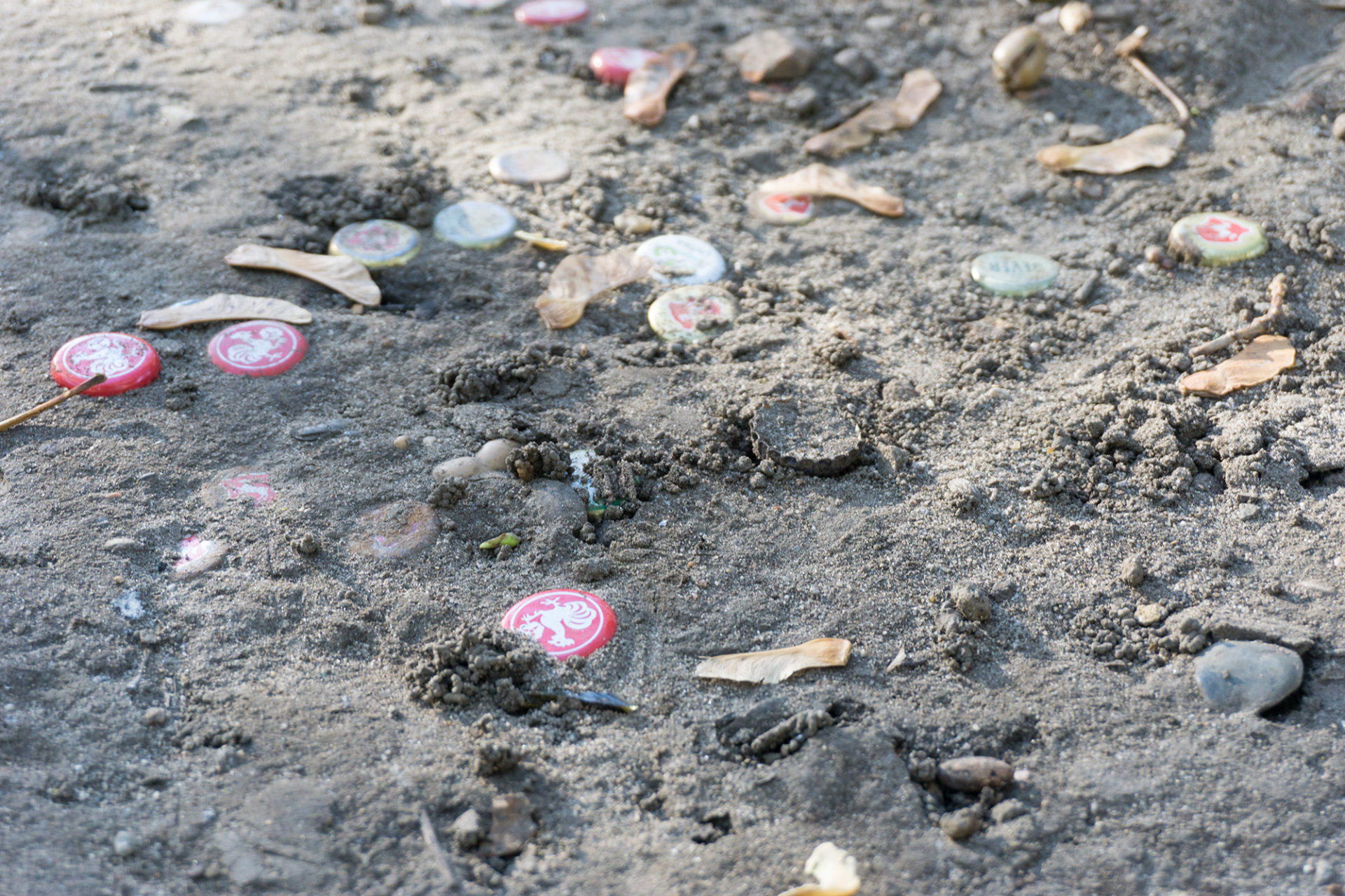 Müll auf der Erde