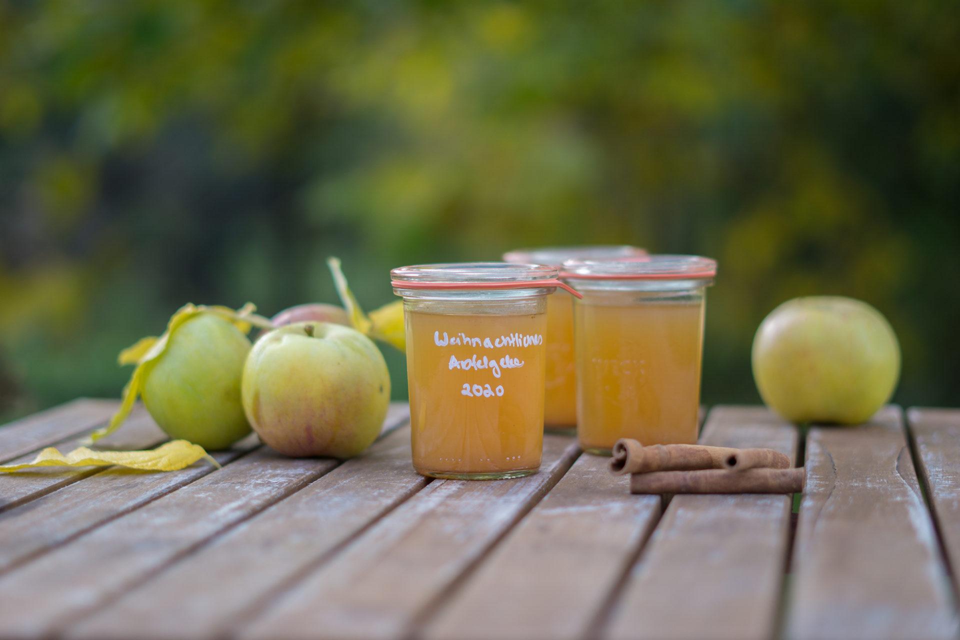 Äpfel einkochen Weckglas