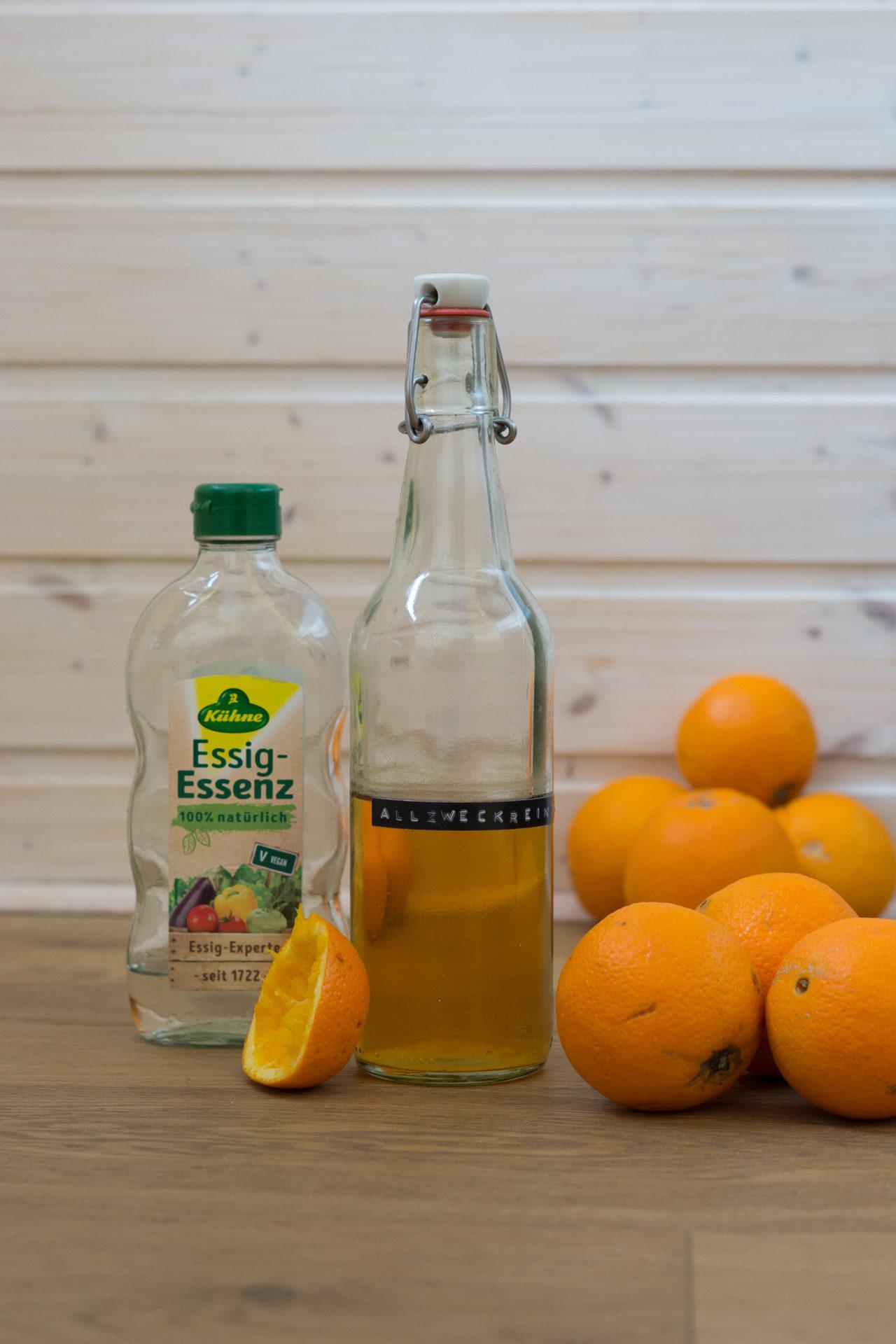 Reiniger Orangenschalen