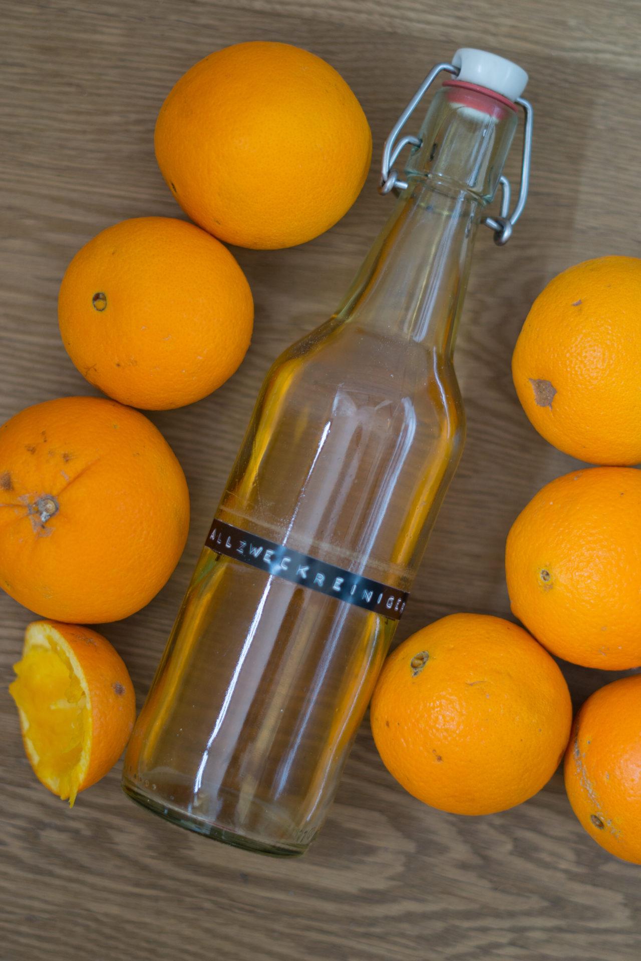 Reiniger DIY Orangenschalen